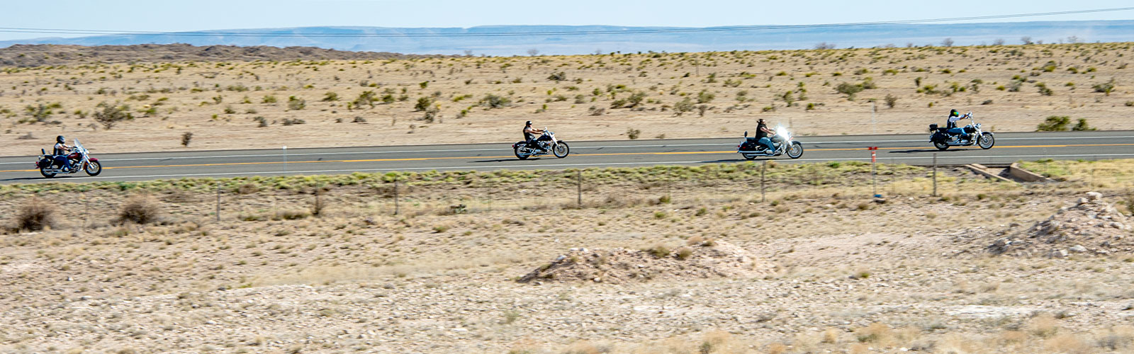Bikers on the highway in the Big Bend.