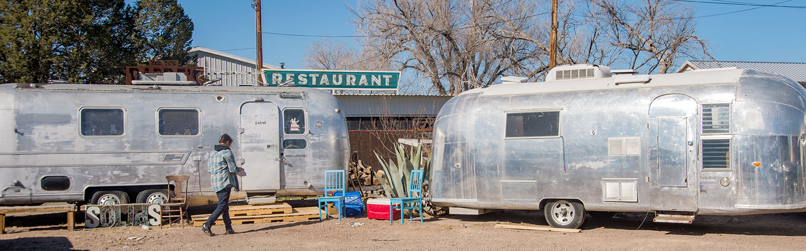 Food trucks in Marfa.