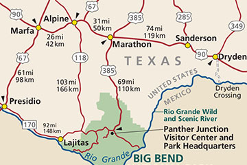 Map of the Big Bend