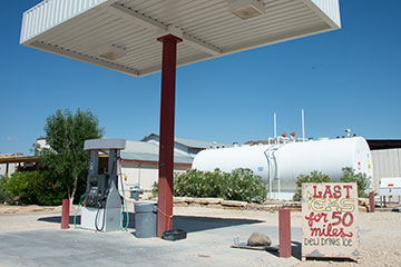 The gas pump at the Lajitas General Store.