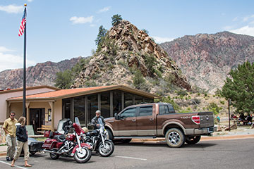 Bikers at Big Bend National Park.
