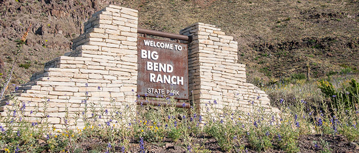 Sign for the Big Bend Ranch State Park.