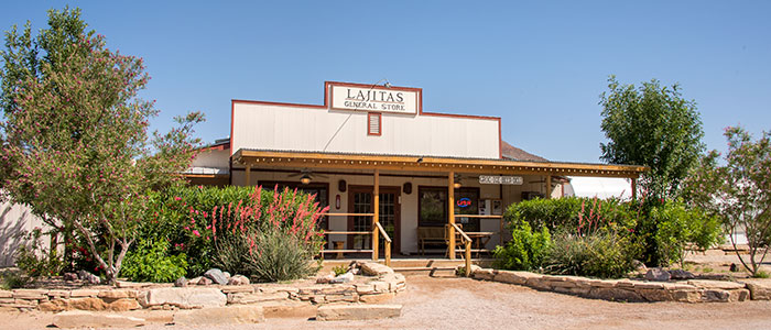 Exterior of the Lajitas General Store.