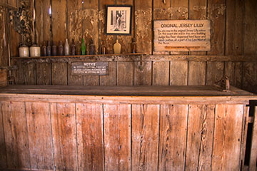 Judge Roy Bean's Bar in Langtry.