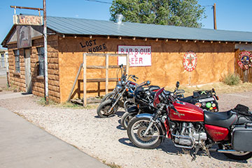 Bikes outside the Lost Horse Saloon.