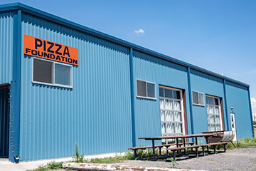 Exterior of Pizza Foundation.