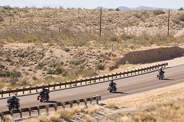Bikers on Lajitas highway.